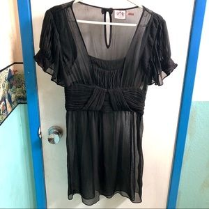 Juicy Couture Sheer Silk Slip Dress